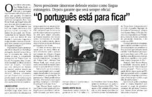 O Portugues esta para ficar