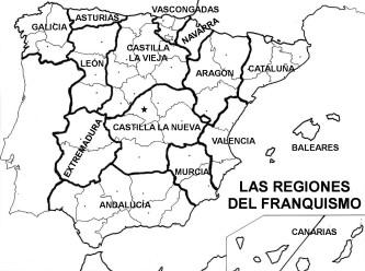 LAS REGIONES DEL FRANQUISMO